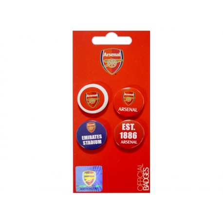 Fan odznaky 4ks ARSENAL