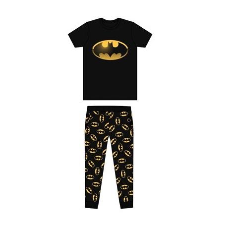 Pánske bavlnené pyžamo BATMAN Black - M (medium)