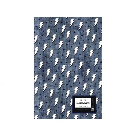 Poznámkový blok B5 HEAD Denim Flash, HD-374,160 listov, štvorčekový (5x5mm), 101019003