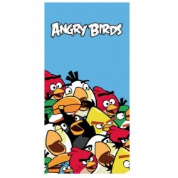 Bavlnená osuška ANGRY BIRDS Crowd blue 75 x 150cm (8452)