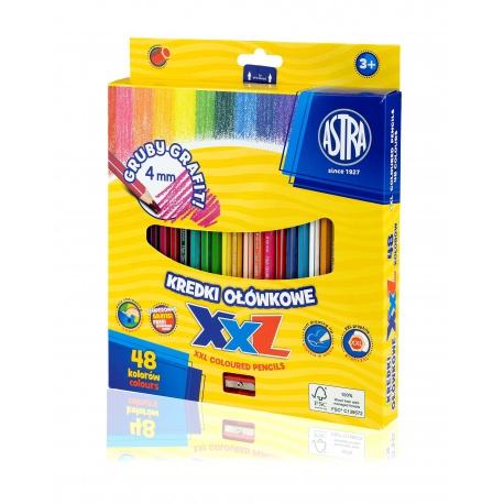 ASTRA Šesťhranné farbičky s XXL tuhou 48ks + strúhadlo, 312120006