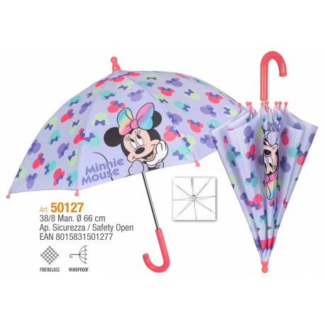 PERLETTI® Detský dáždnik MINNIE MOUSE Bow, 50127