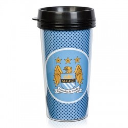 Cestovný termo pohár 420ml MANCHESTER CITY Bullseye (3534)