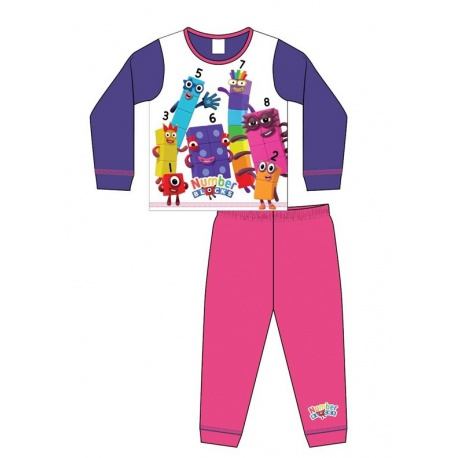 Dievčenské bavlnené pyžamo NUMBERBLOCKS - 4 roky (104cm)