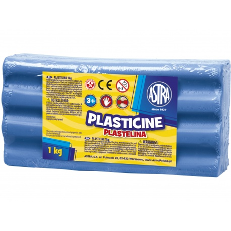 ASTRA Plastelína 1kg Modrá tmavá, 303111012