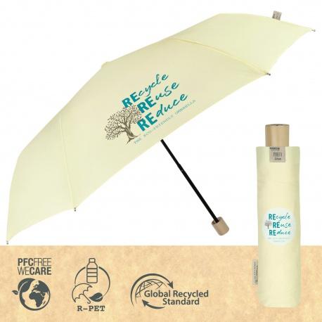 PERLETTI® GREEN Dámsky skladací dáždnik / krémová, 19102