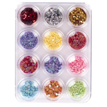 Sypké konfety / dekorácie FABLE VARIETY, 12ks, 335121011