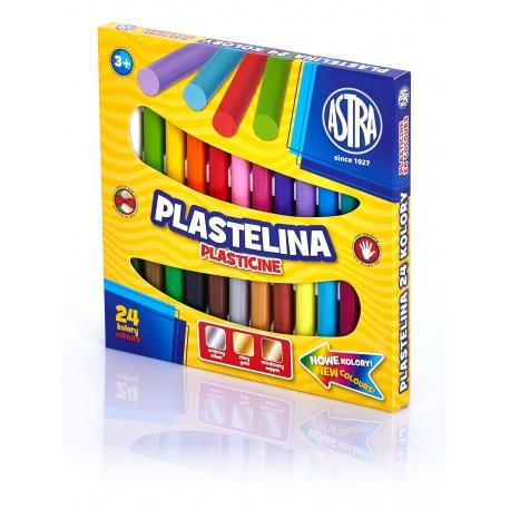 ASTRA Plastelína základná 24 farieb, 303110001