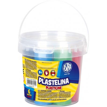 ASTRA Plastelína vo vedierku 6 farieb 480g, 303106001
