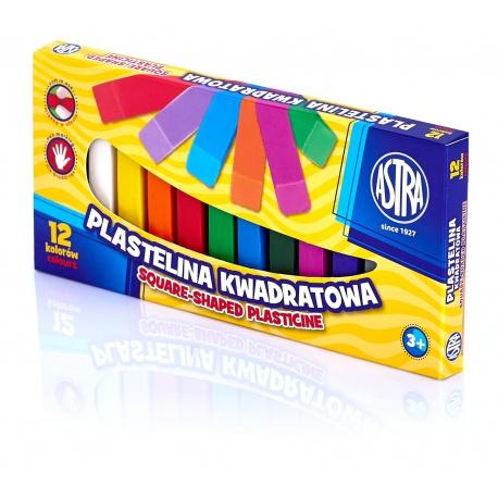 ASTRA Plastelína hranatá 12 farieb, 83813908
