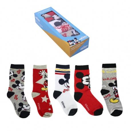 Štýlové ponožky MICKEY MOUSE v darčekovej krabičke, Sada 5ks, veľkosť 19-22, 2200007414