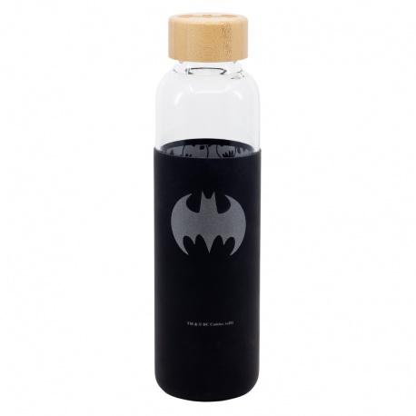 Sklenená fľaša so silikónovým povrchom BATMAN 585ml, 85513