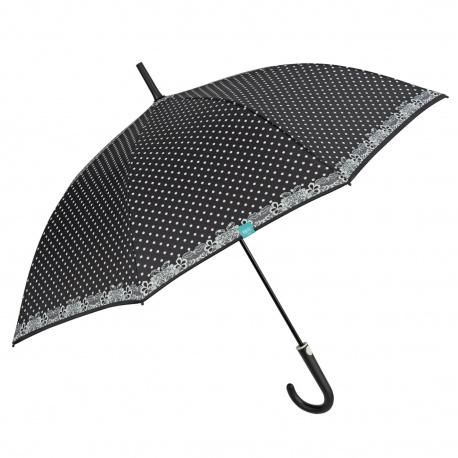 PERLETTI® Dámsky automatický dáždnik Black Dots, 26209