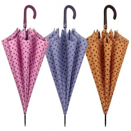 PERLETTI® Dámsky automatický dáždnik DOTS / ružová, 21690