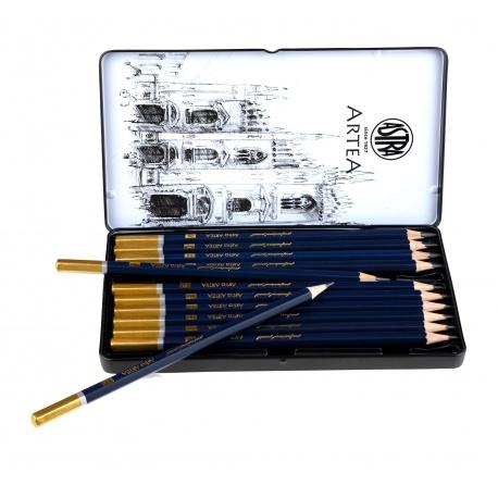 ARTEA Umelecké skicovacie ceruzky v plechovej krabičke, sada 12ks, 8B - 3H, 206120013