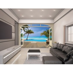 PARADISE BEACH - WALLTASTIC® 3D FOTOTAPETA The View Collection (3565)