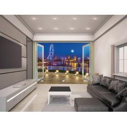 LONDON SKYLINE - WALLTASTIC® 3D FOTOTAPETA The View Collection (3596)