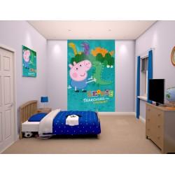 PEPPA PIG ´GEORGE´ - WALLTASTIC® 3D FOTOTAPETA 240 x 150cm (3015)