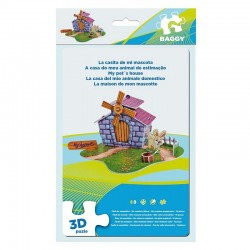 BAGGY ´PETS HOUSE´ - 3D PUZZLE 14ks (3936)