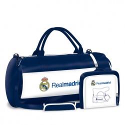ARSUNA Športová taška REAL MADRID WhiteBlue 55cm (6625)