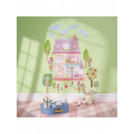Wallies Veľké samolepky na stenu PLAY HOUSE (5268)