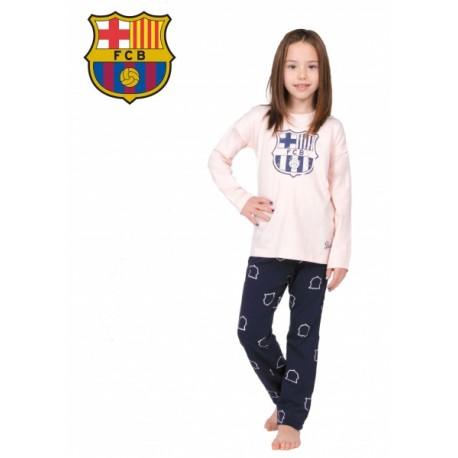 Dievčenské bavlnené pyžamo FC BARCELONA (BC03192) - 10 rokov (140cm)
