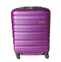 ABS cestovný kufor LOW COST 55x38x20cm purpurový