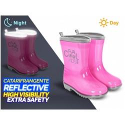 PERLETTI® Detské reflexné gumáky COOL KIDS Pink (5401)