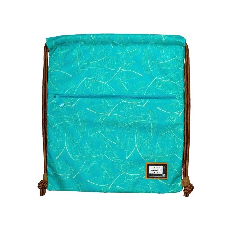 fa543a9aa Luxusné vrecúško / taška na chrbát HEAD Green, HD-131
