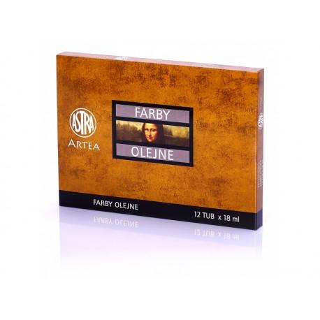 ARTEA Olejové farby Profi, Zostava 1, 12 x 18ml, 83410974 ASTRA AST2938