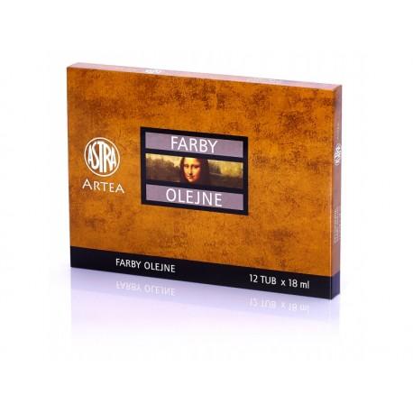ARTEA Olejové farby Profi, Zostava 2, 12 x 18ml, 83410975 ASTRA AST2937