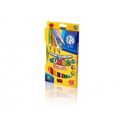 ASTRA Dúhové farbičky JUMBO 12ks + strúhatko, 312118002