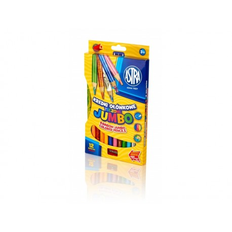 ASTRA Dúhové farbičky JUMBO 12ks + strúhadlo, 312118002 ASTRA AST2806