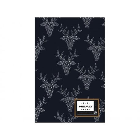 Poznámkový blok B5 HEAD Deer, HD-168,160 listov, štvorčekový (5x5mm) HEAD AST2783