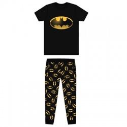 Pánske bavlnené pyžamo BATMAN Black