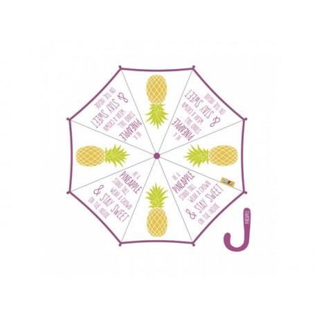 ZASKA Dámsky automatický dáždnik PINEAPPLE Transparent