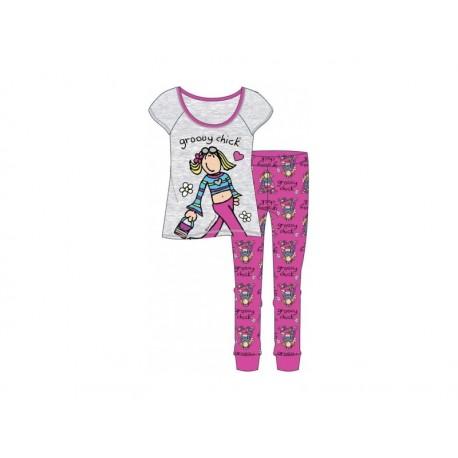 Dámske bavlnené pyžamo GROOVY CHICK - L (large)