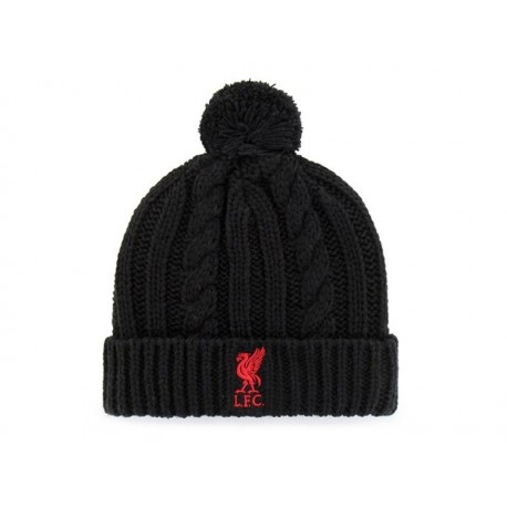 Zimná úpletová čiapka FC LIVERPOOL Black Cable FOREVER COLLECTIBLES LIV1552