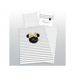 HERDING Obojstranné bavlnené obliečky MINNIE MOUSE Gold, 140/200+70/90
