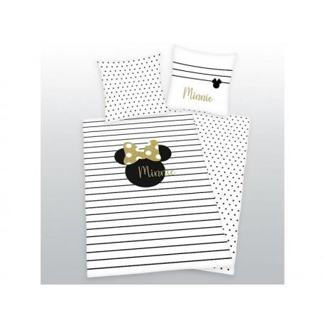 HERDING Obojstranné bavlnené obliečky MINNIE MOUSE Gold, 140/200+70/90 HERDING MIN0623