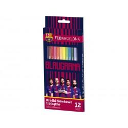 Ergonomické trojhranné farbičky 12ks FC BARCELONA, 312118005