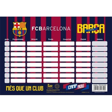 Rozvrh hodín / Timetable FC BARCELONA, 708018003 ASTRA BRC1550x
