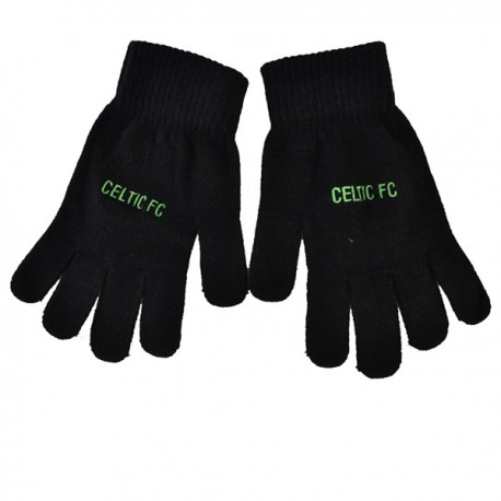 Úpletové rukavice CELTIC Black FOREVER COLLECTIBLES CEL1000