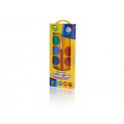 ASTRA Vodové farby so štetcom priemer 30mm 12 farieb, 302118002