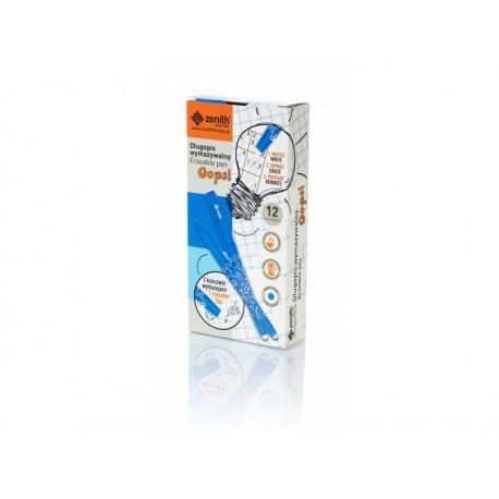 ASTRA OOPS! Gumovateľné pero 0,6mm, modré, dve gumy, krabička, 201319003 ASTRA AST2713
