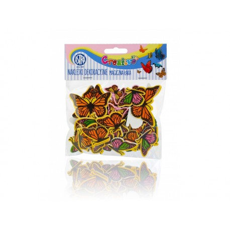 CREATIVO Penové nálepky MOTÝLE, mix veľkostí a farieb, 335119004 ASTRA AST2686