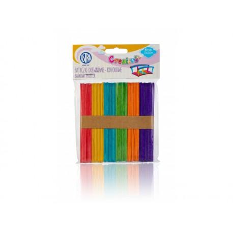 CREATIVO Drevené špachtle (nanukové paličky), 11,4cm, farebné, 50ks, 335119022