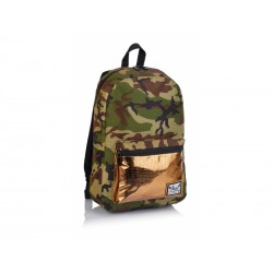 Jednokomorový študentský / športový batoh HASH®, Gold Army, HS-126, 502019083