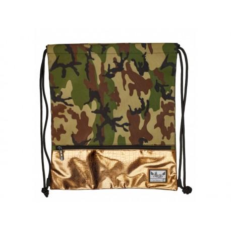 Luxusné vrecúško / taška na chrbát HASH®, Gold Army, HS-127 HASH® AST0927