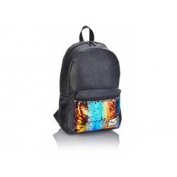 Štýlový koženkový batoh HASH®, Gold Sequins, HS-138, 502019091